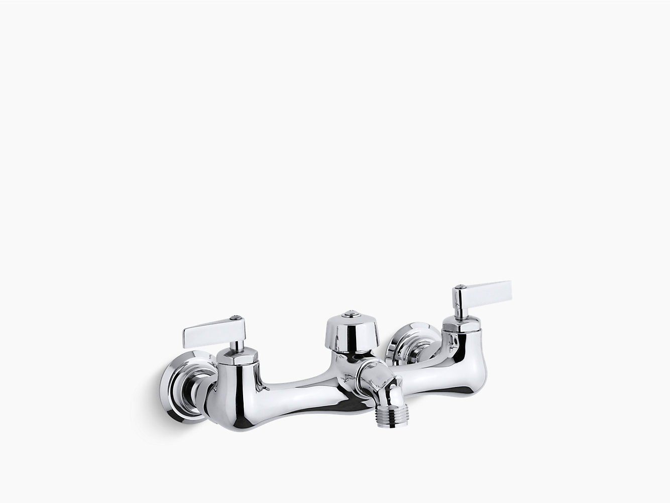 Knoxford double lever handle service sink faucet with 2-1/4 ...