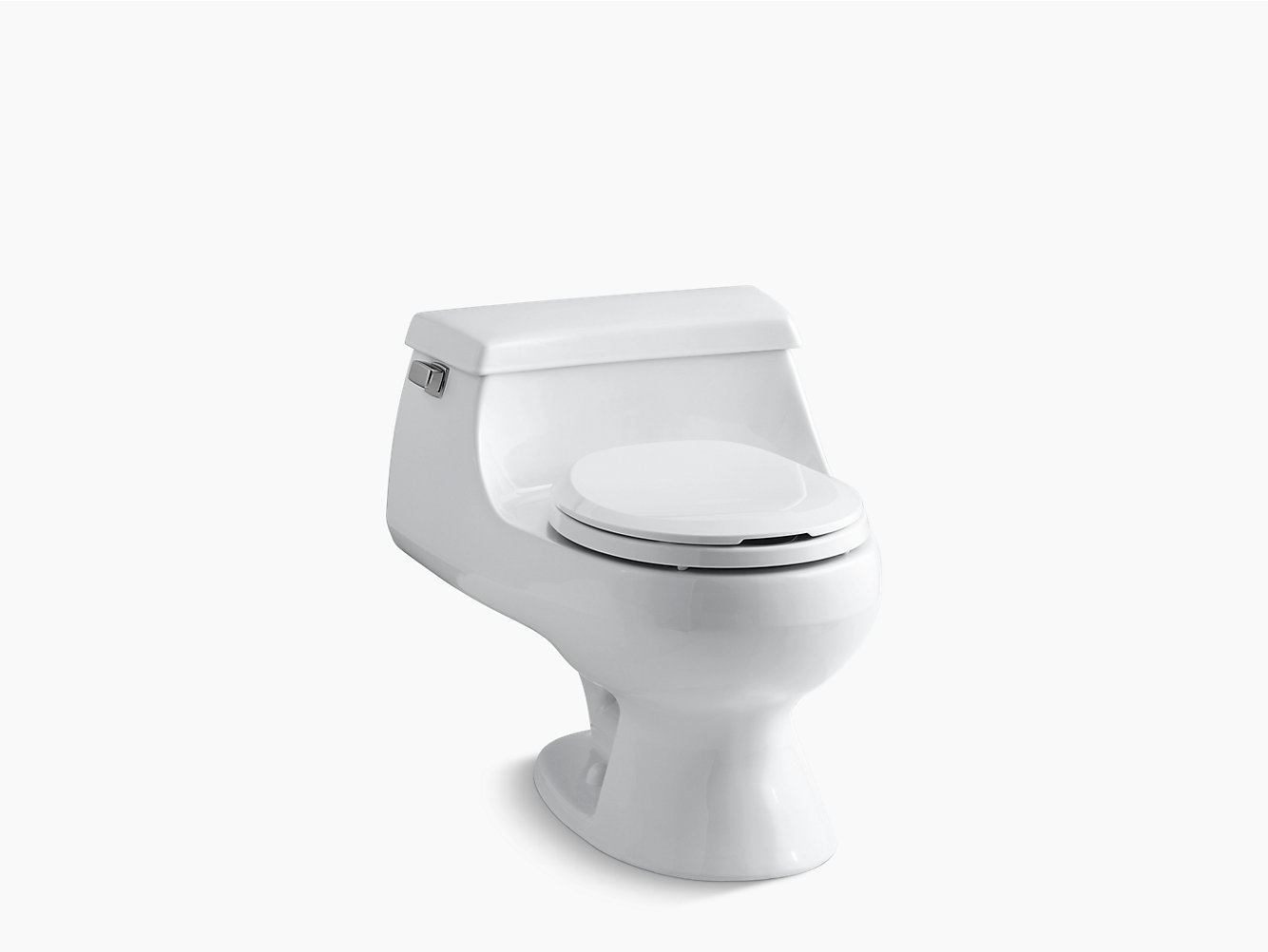 KOHLER | 3386 | Rialto one-piece round-front 1.6 gpf toilet with Rim ...