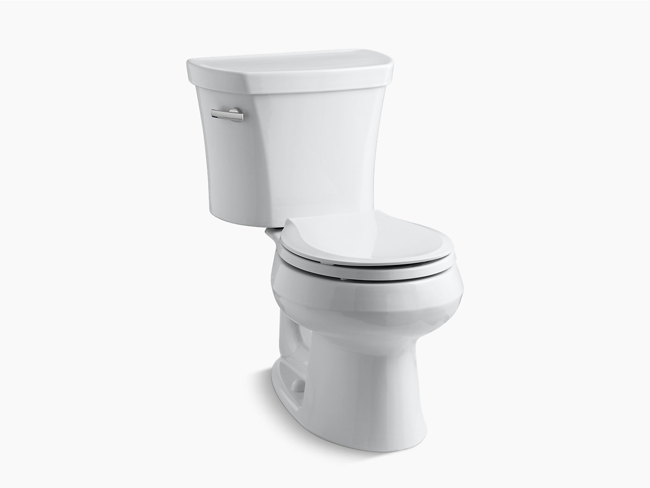 KOHLER|K-3947|Wellworth Two-Piece Round-Front 1.28-GPF Toilet | KOHLER