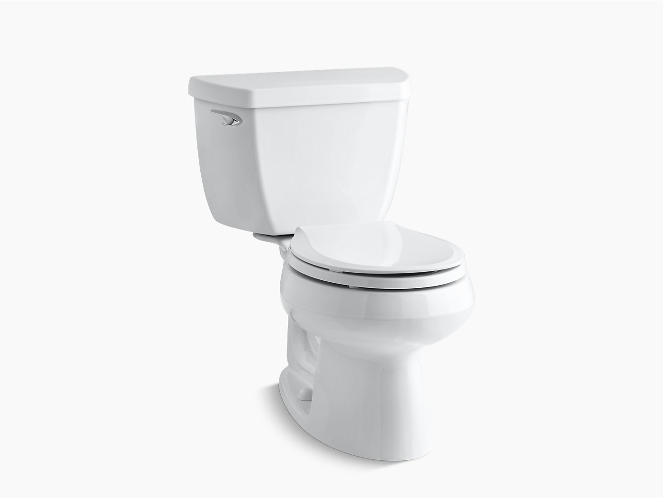 KOHLER|K-3577-T|Wellworth Two-Piece Round 1.28-GPF Toilet with Tank ...