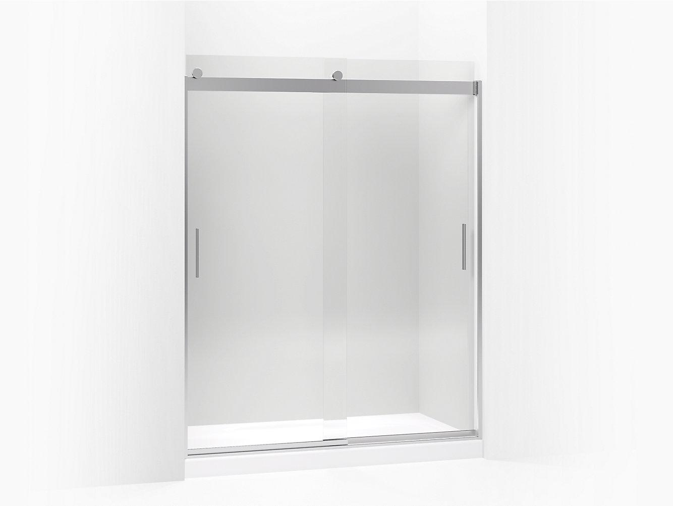 Shower Door kohler levity shower door installation photos : Levity Frameless Sliding Shower Door | K-706009-L | KOHLER