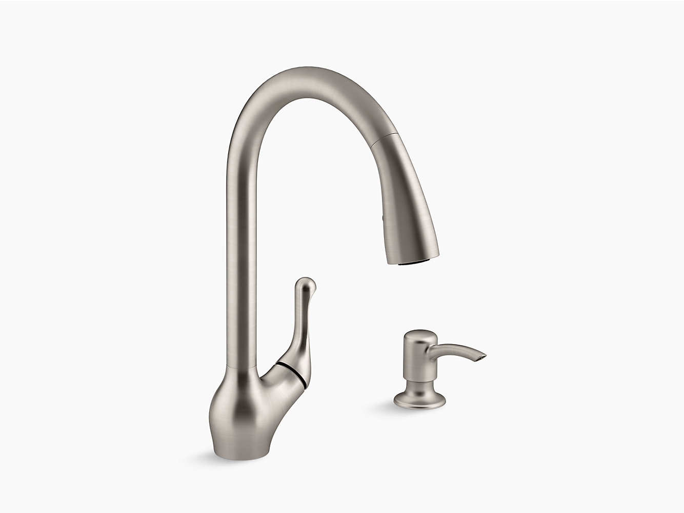 K-R78035-SD | Barossa® Touchless pull-down kitchen faucet with soap ...