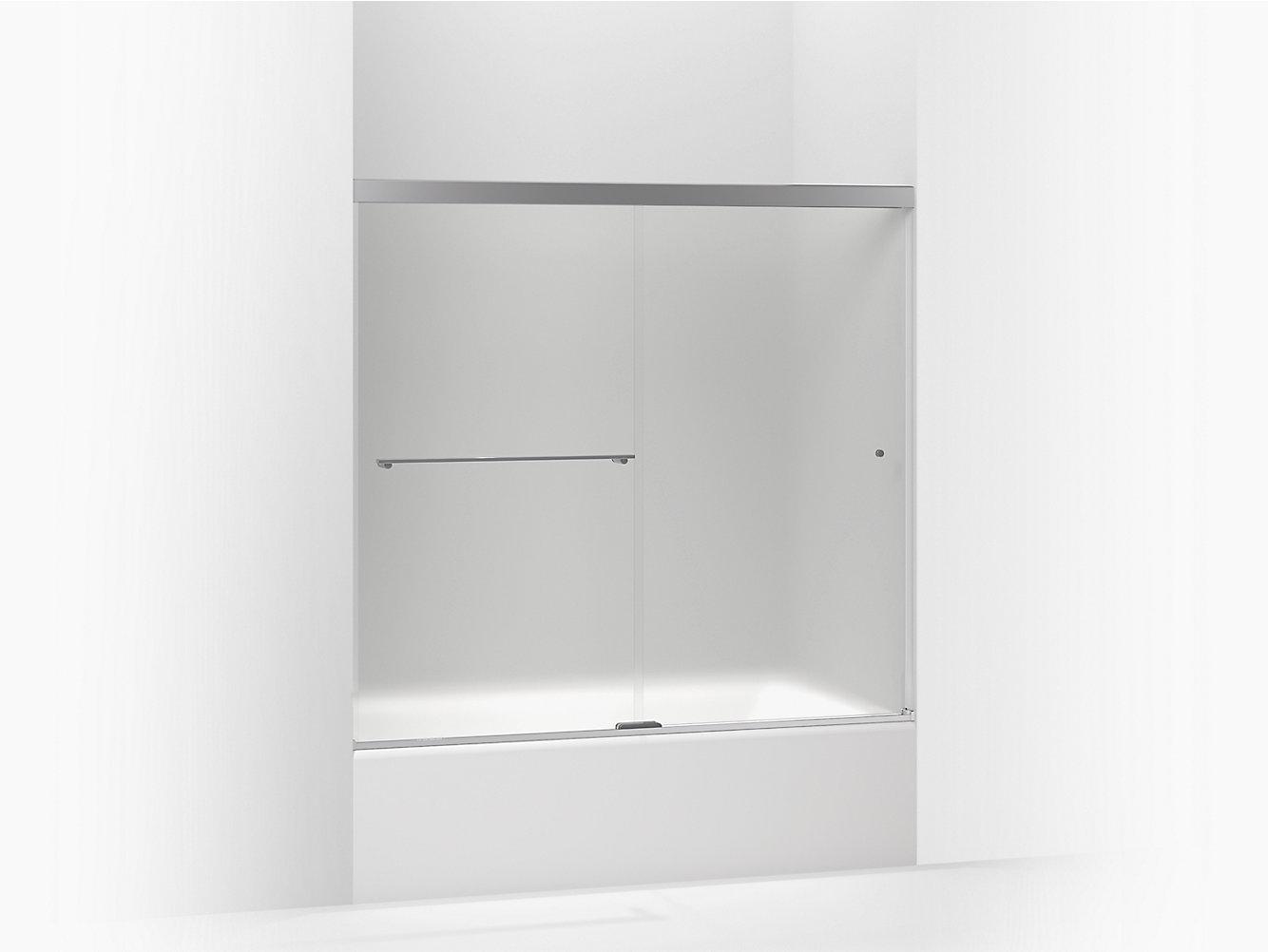 K-707000-D3   Revel Frameless Sliding Bath Door   KOHLER