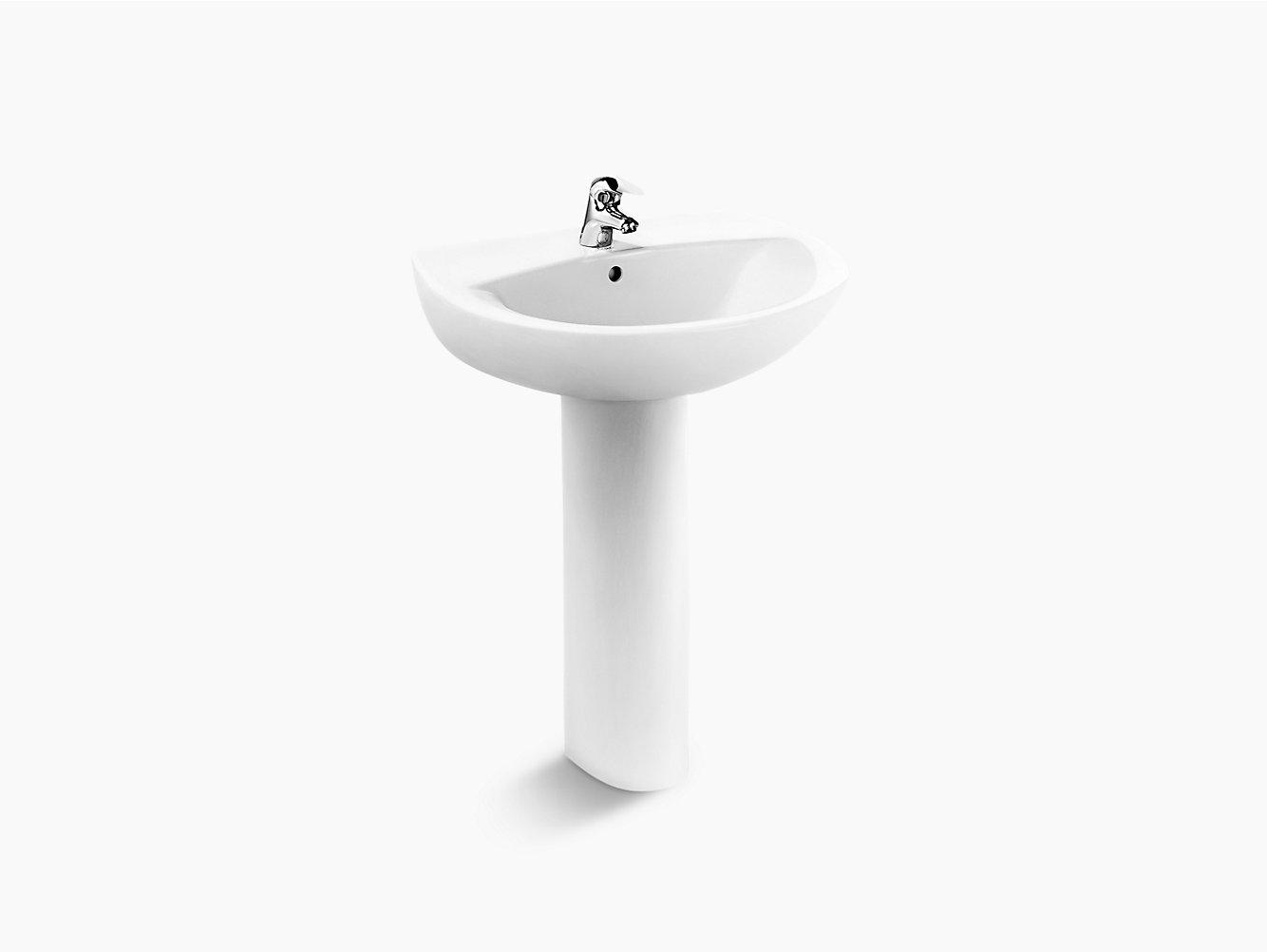 Pedestal Lavatory With Single Faucet Hole 2477t 1 Kohler