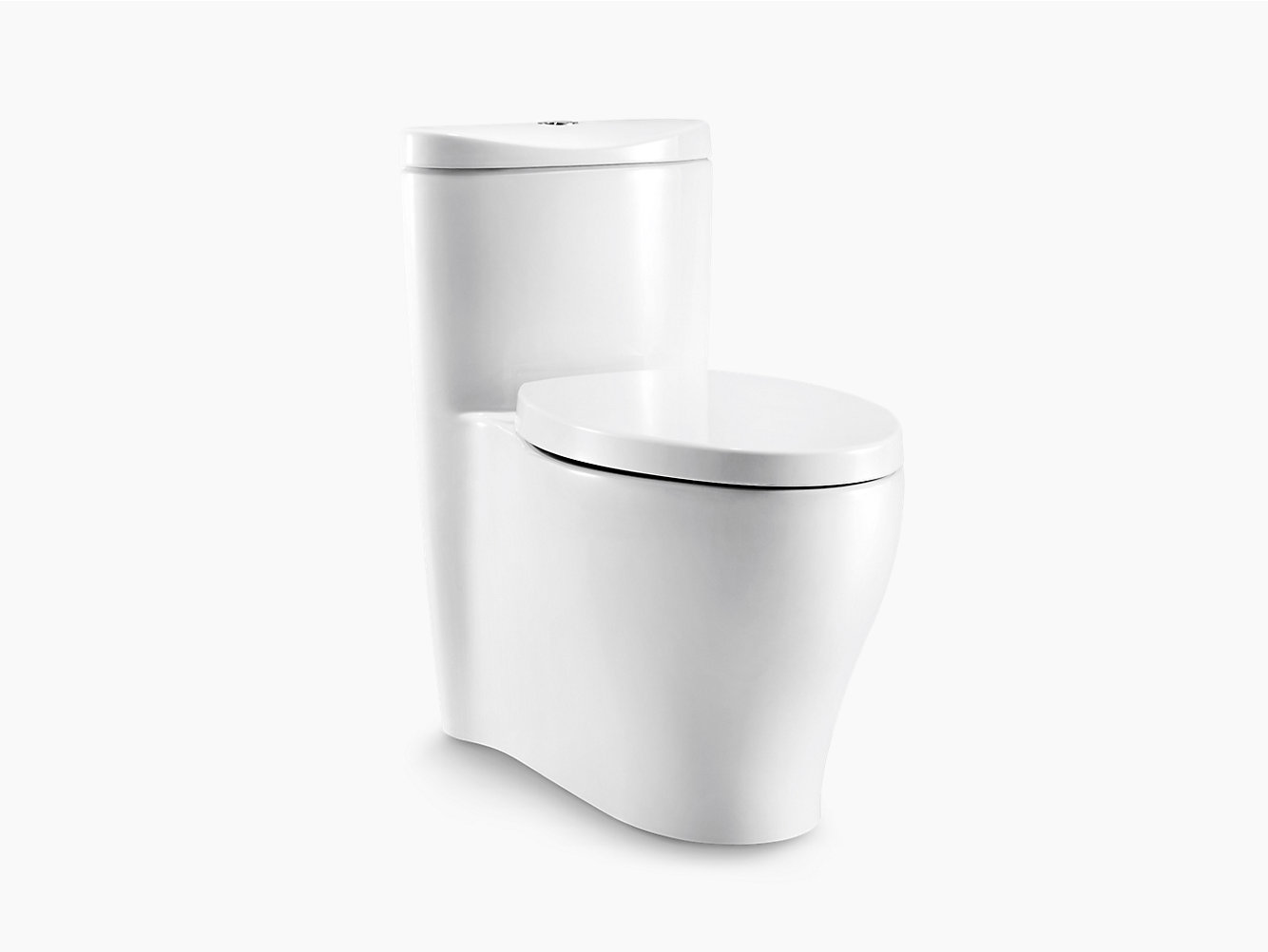 Aerodyne Skirted One Piece Dual Flush 3 4 8l Toilet With Cl 5 Flushing Technology 3869t S Kohler