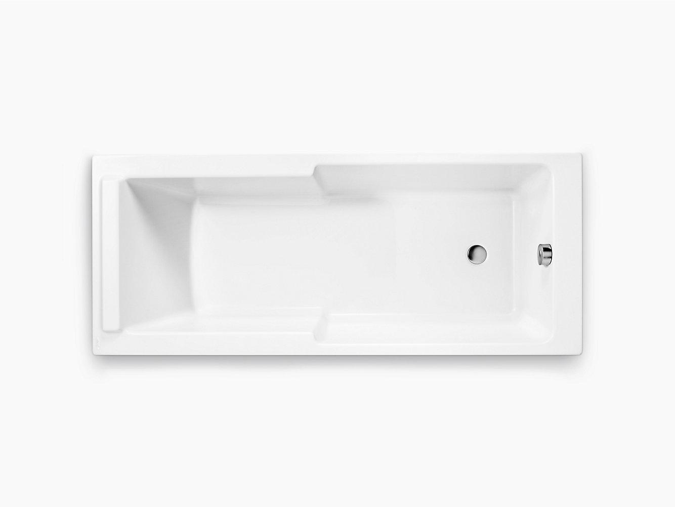 Struktura 1.7m Drop-in Acrylic Bath | 75418T | KOHLER