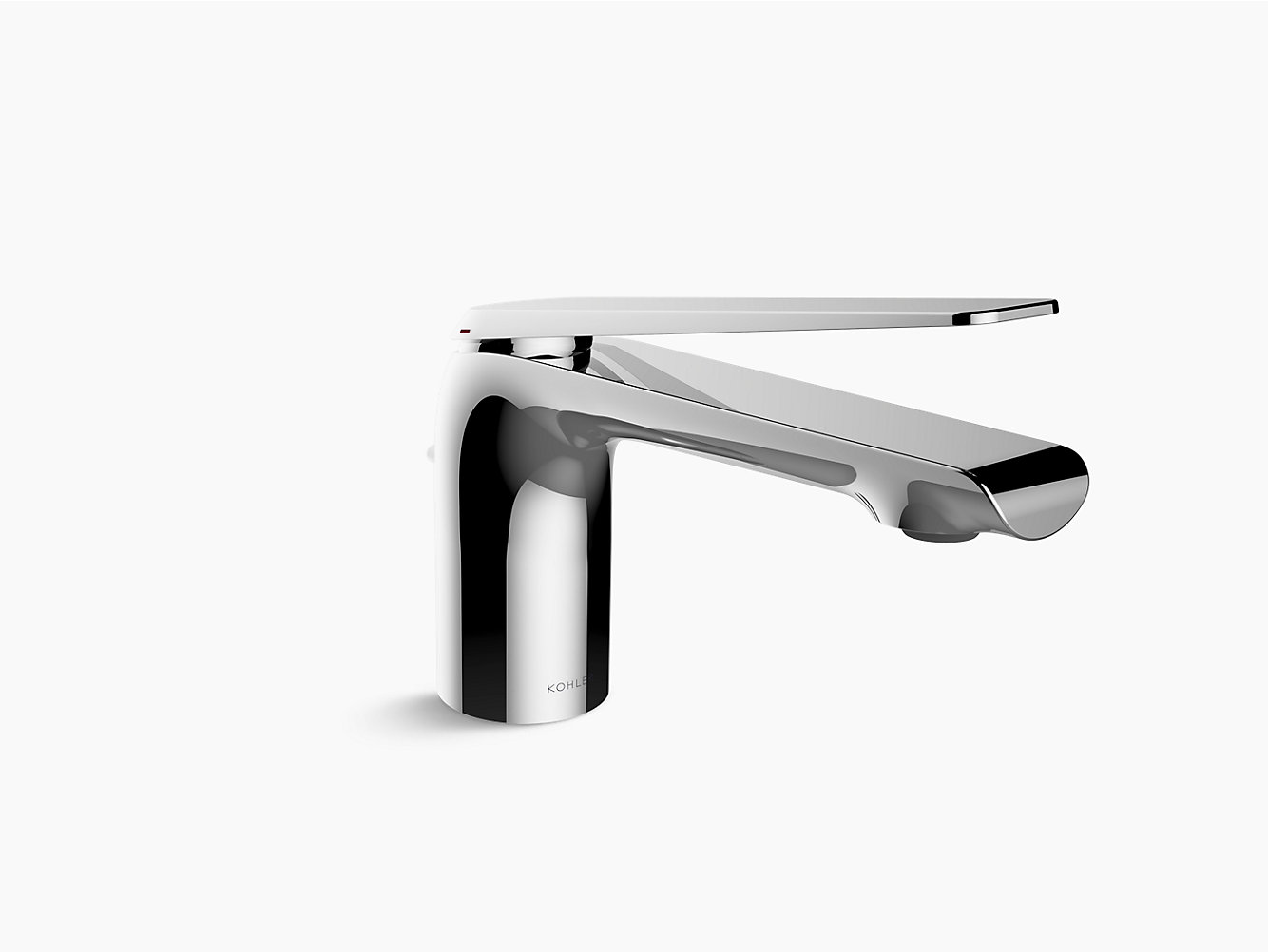 pd tall with faucet kohler purist single sink bathroom straight shop lever handle vibrant rose faucets gold