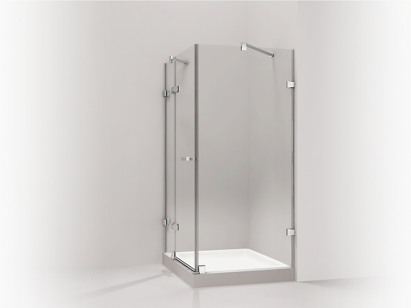 Purist Upgrade L-Shaped Shower Enclosure | 99169T-C | KOHLER