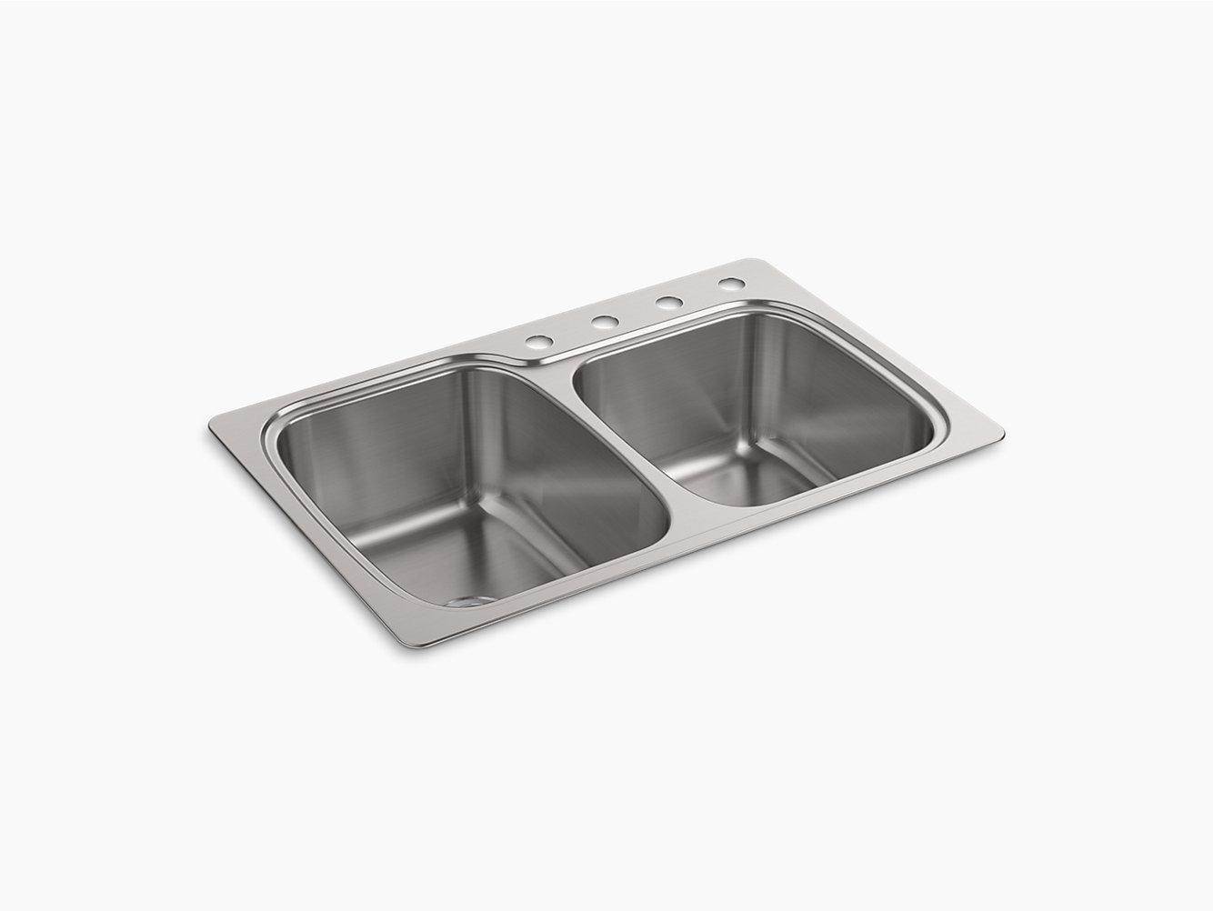 Large Medium Double Bowl Kitchen Sink