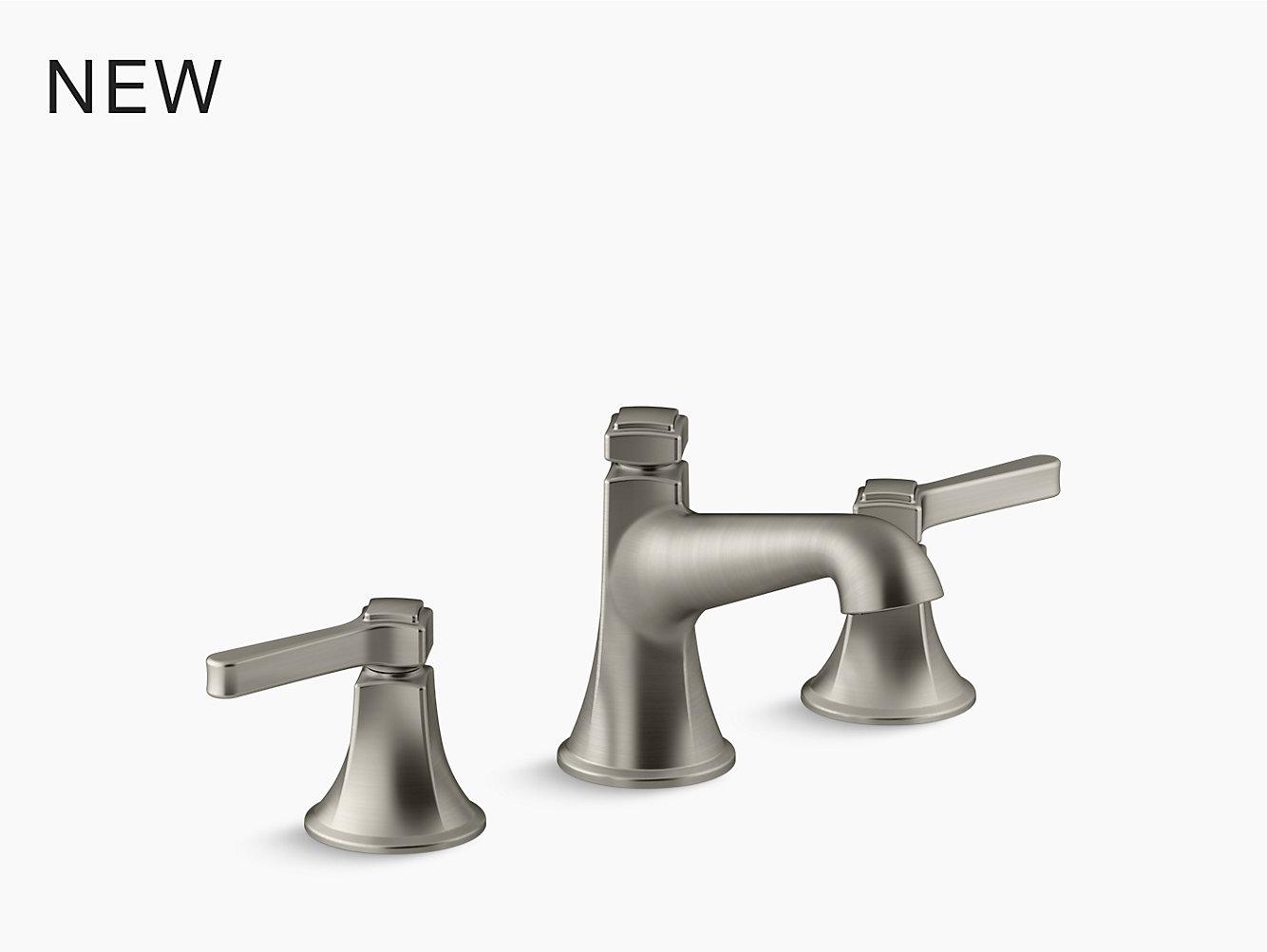 Bathroom Faucet Not Flowing kohler   t14428-3   purist deck-mount bath faucet trim for high