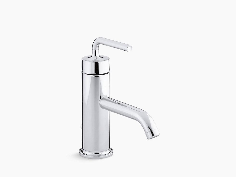 Kohler 14402m 4a purist single hole bathroom sink faucet with straight lever handle for Kohler bathroom single hole faucets