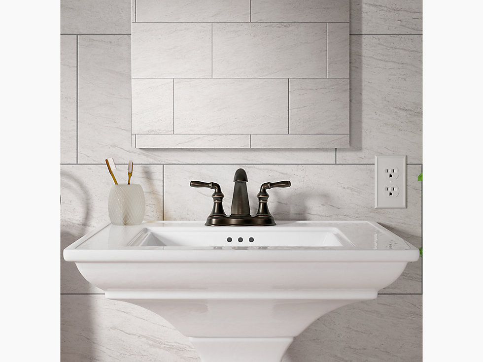 Kohler 393 N4 Devonshire Centerset Bathroom Sink