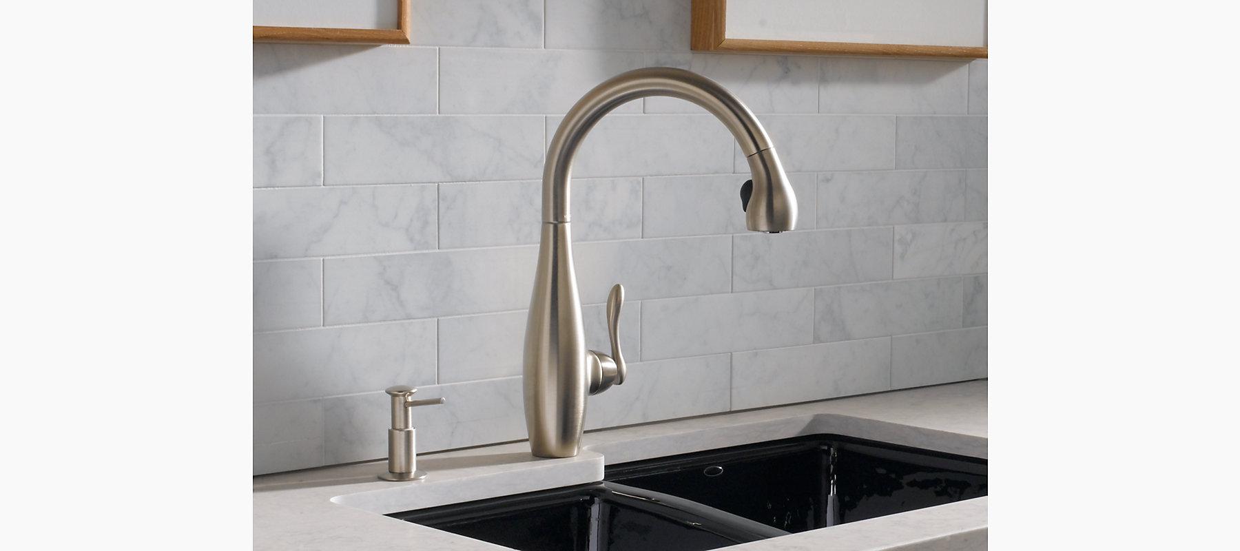 Clairette SingleHandle Spray Kitchen Sink Faucet K KOHLER - Discontinued kohler bathroom sink faucets