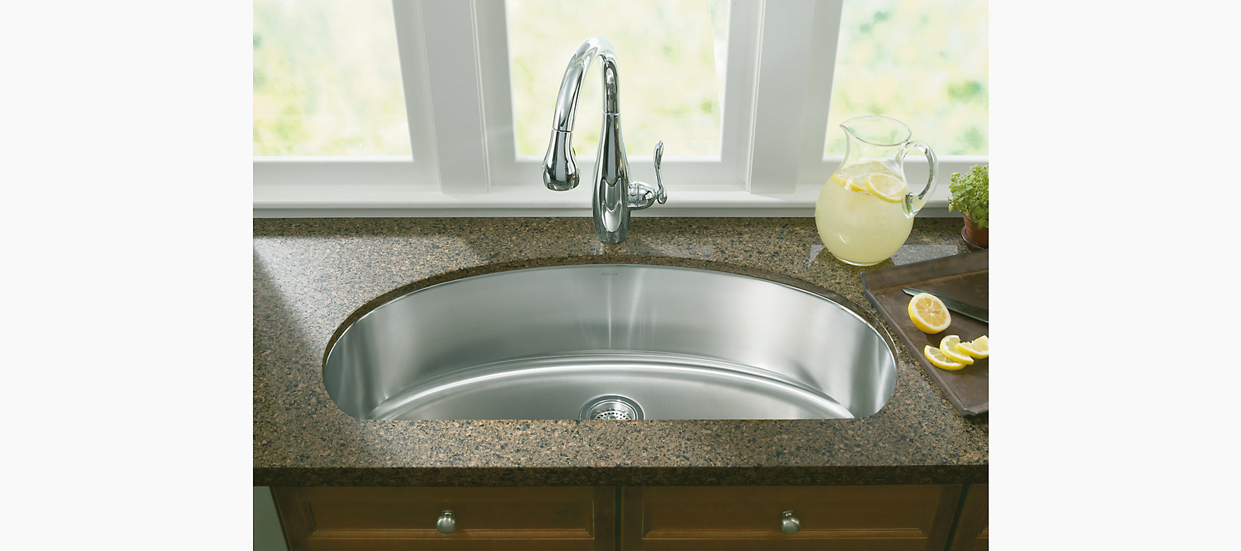 K 3185 Undertone Extra Large D Bowl Kitchen Sink Kohler