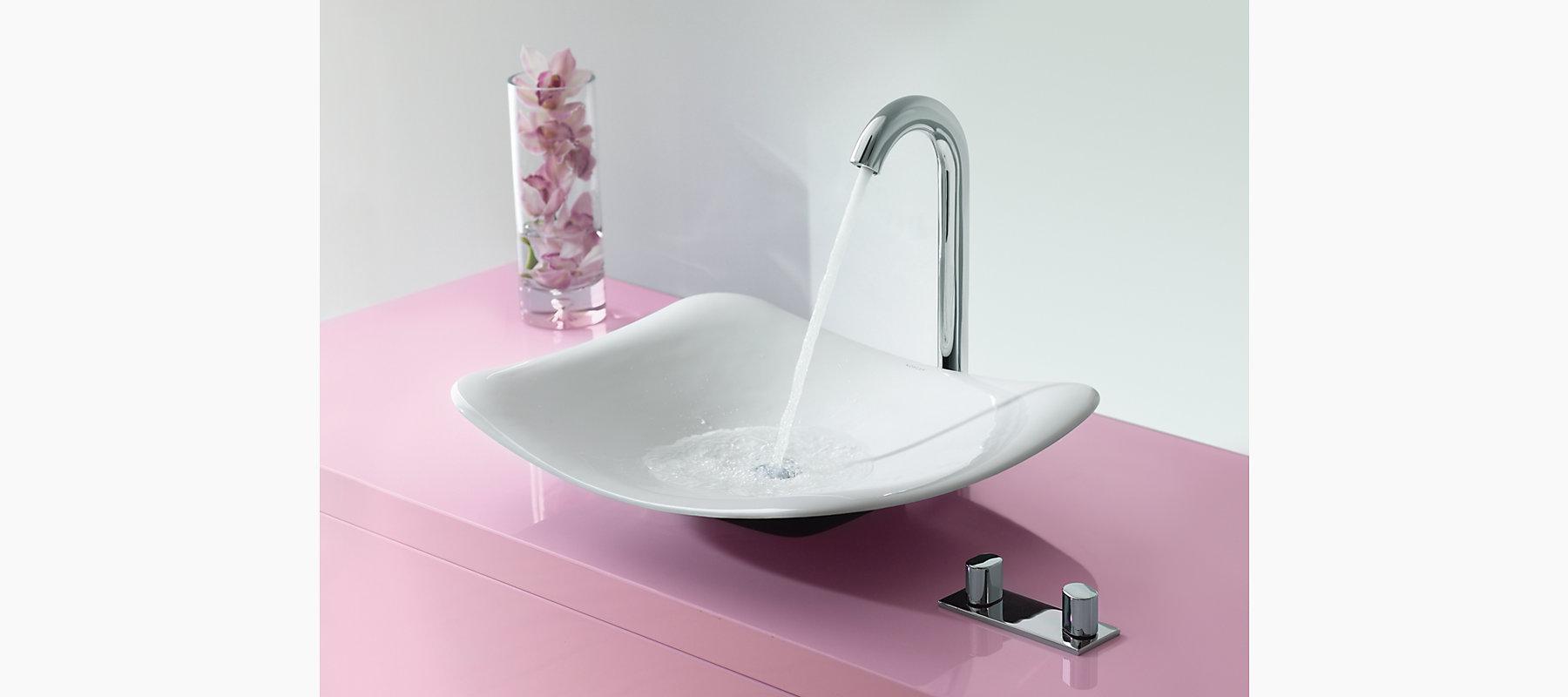 Oblo Tall Widespread Bathroom Sink Faucet | K-10094-9 | KOHLER