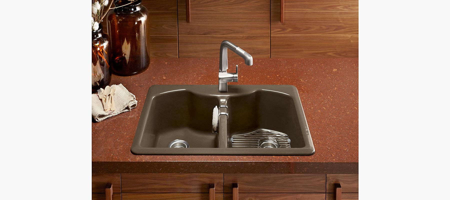 Bellegrove Kitchen Sink with Single Faucet Hole   K-6482-1A4   KOHLER