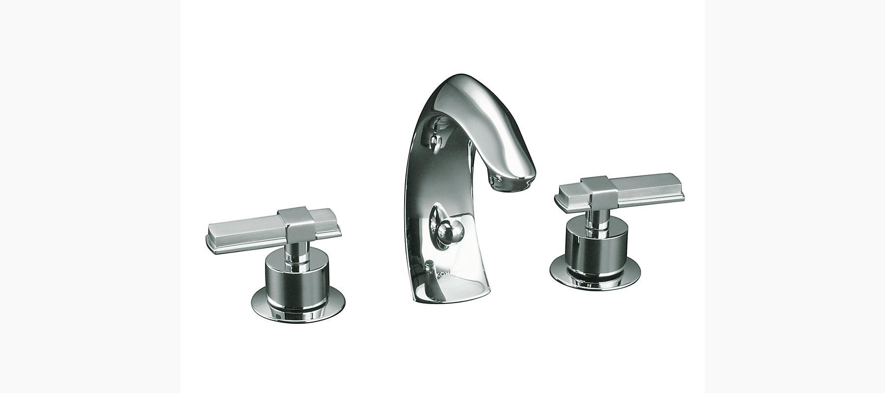 Kohler Elmbrook 8 In Widespread 2 Handle Bathroom Faucet: KOHLER