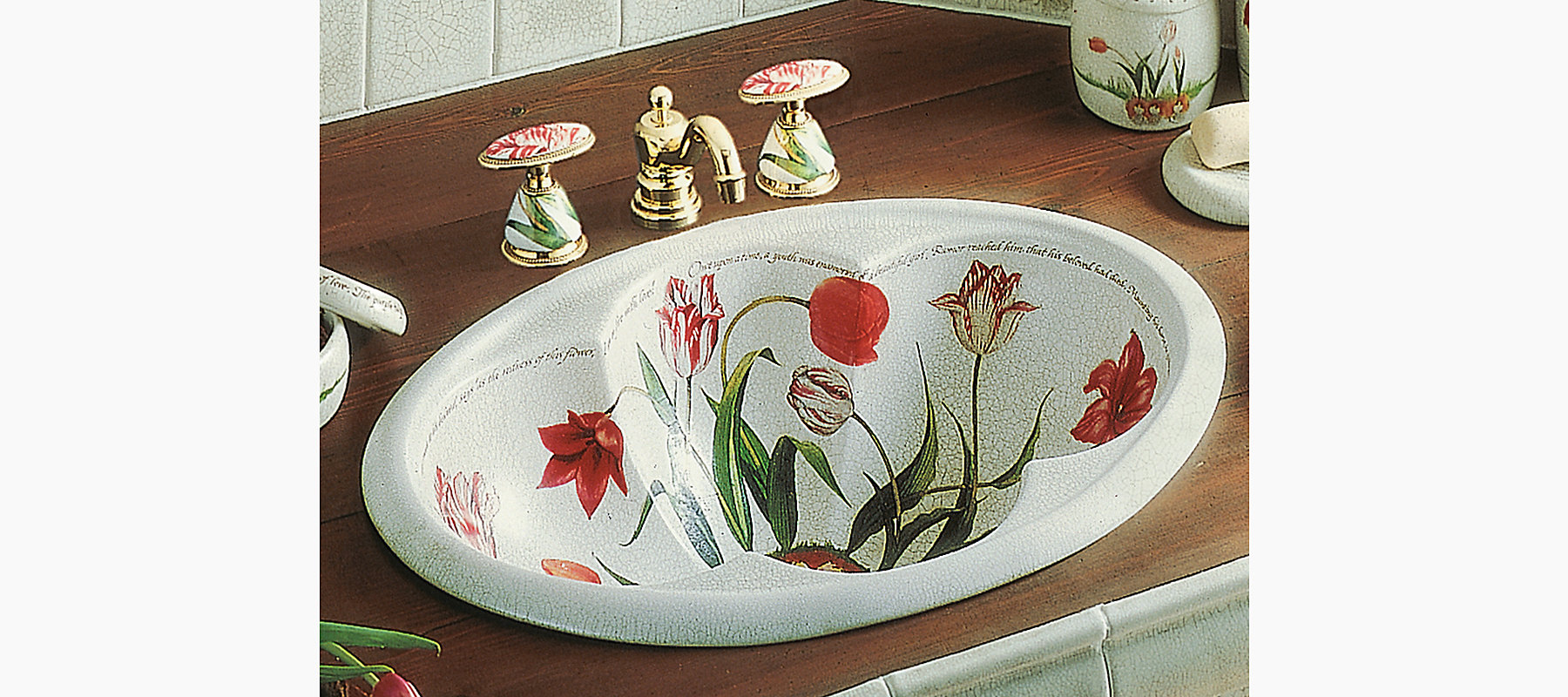 Fables Amp Flowers Design On Cantata Drop In Sink K 14173