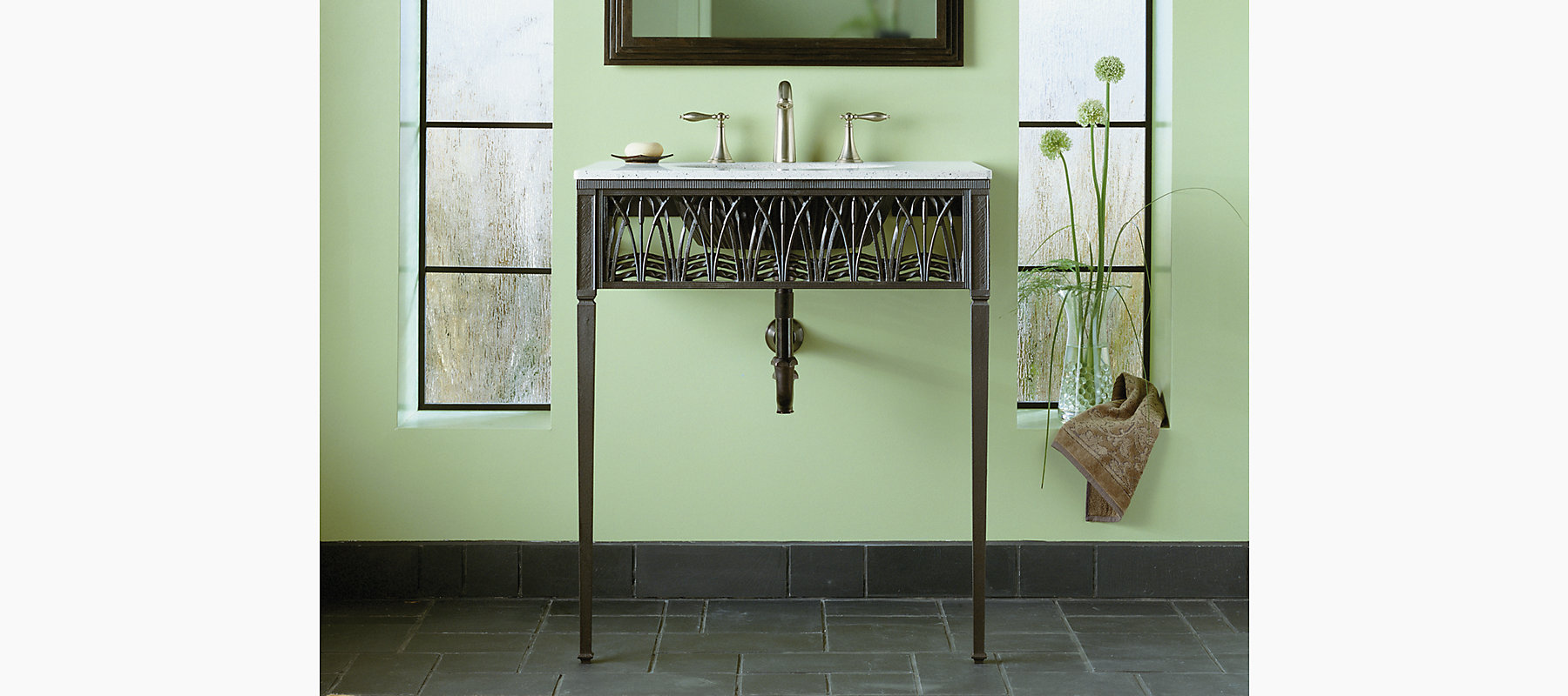 Cattails Iron Console Table | K-6890 | KOHLER