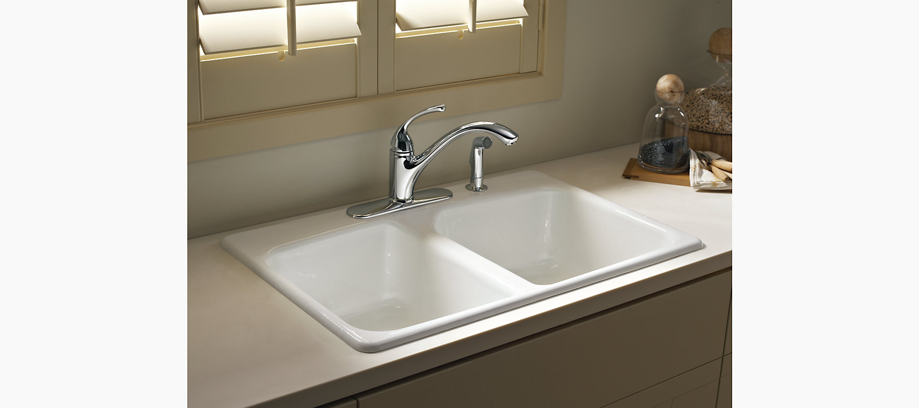 Brookfield Top-Mount Kitchen Sink with Four Faucet Holes | K-5942 ...
