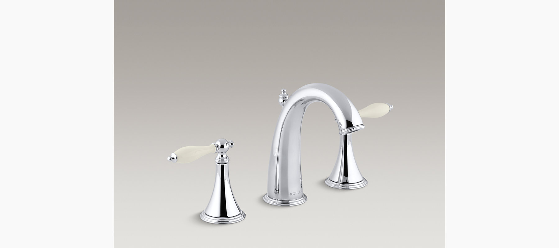 Kohler Finial Traditional Widespread Sink Faucet Kohler