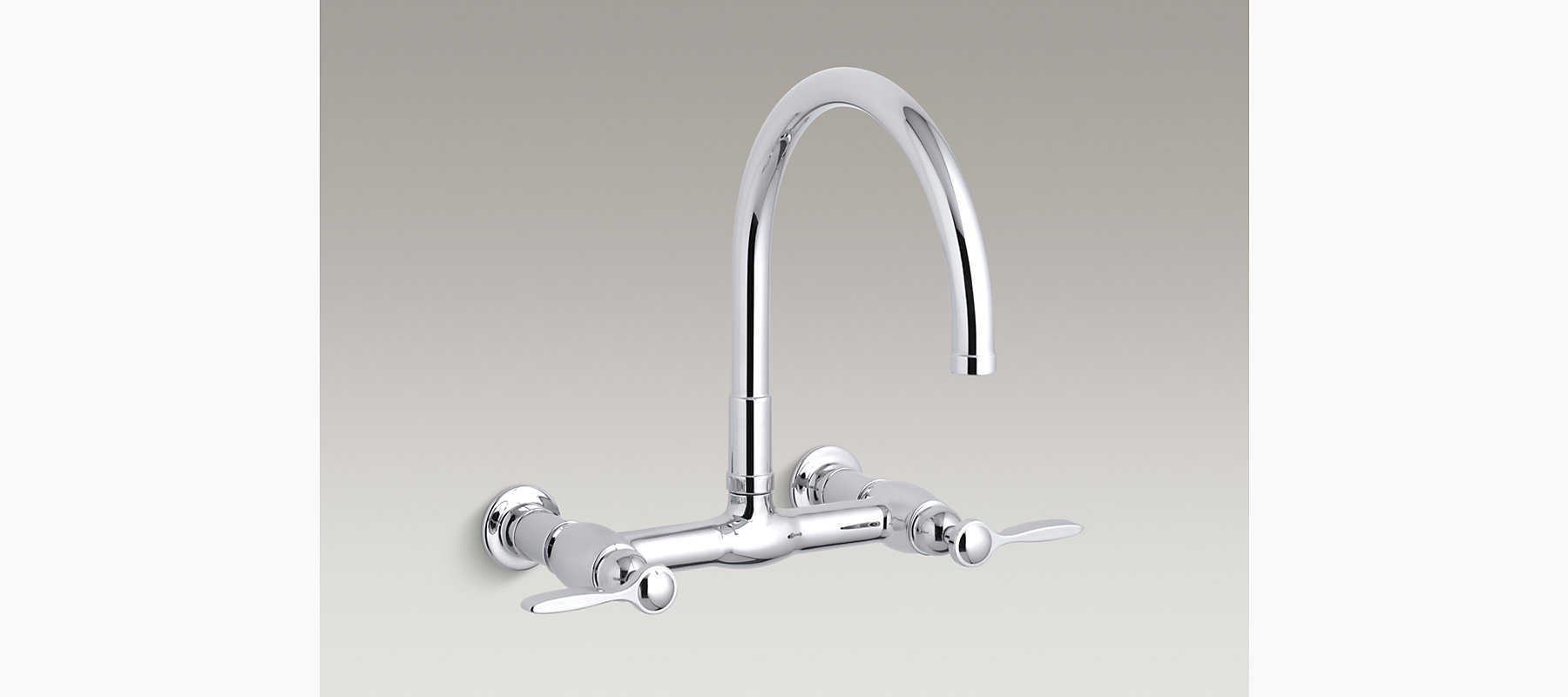 Parq Wall-Mount Bridge Kitchen Sink Faucet | K-6132-4 | KOHLER