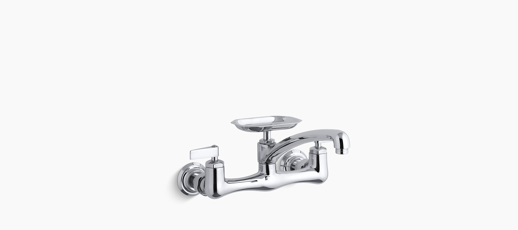 Clearwater double lever handle sink supply faucet with 8\