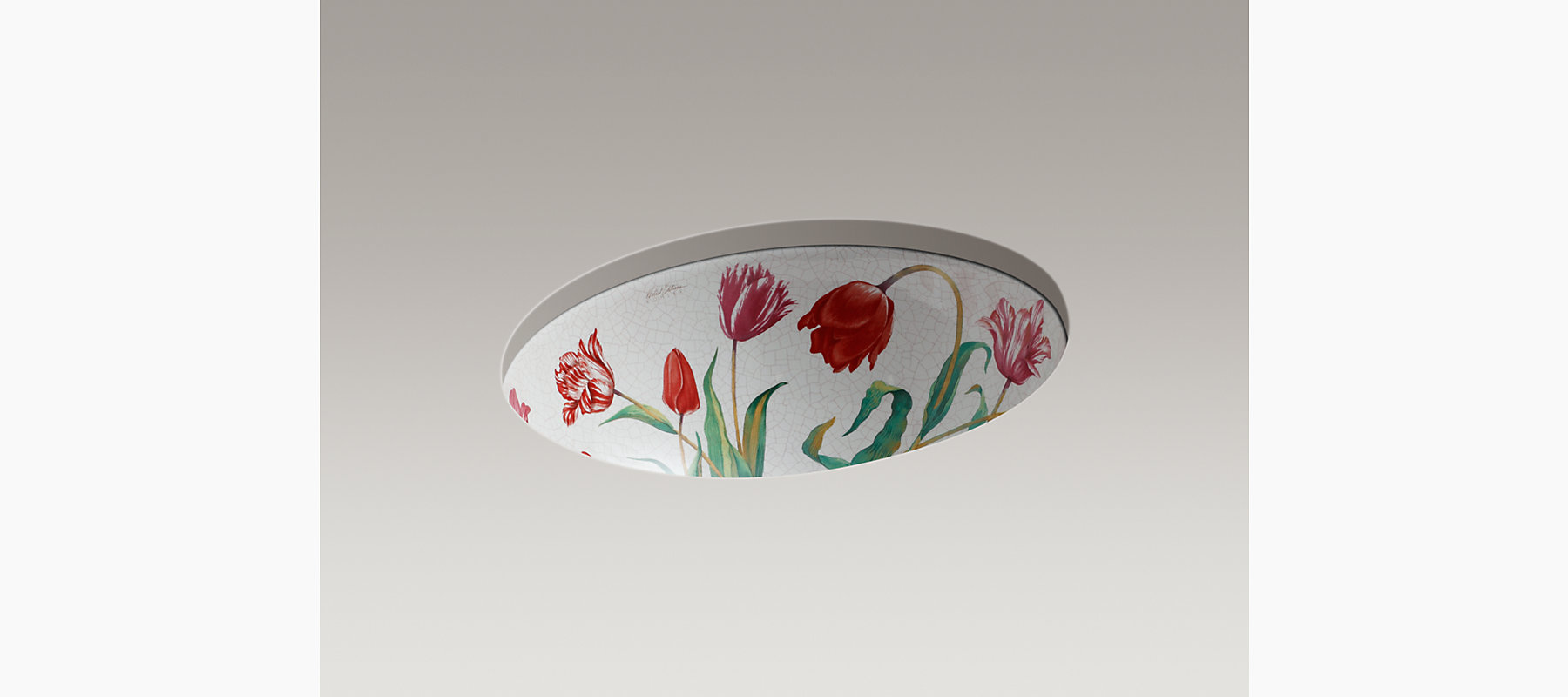 Fables Amp Flowers Design On Caxton Under Mount Sink K