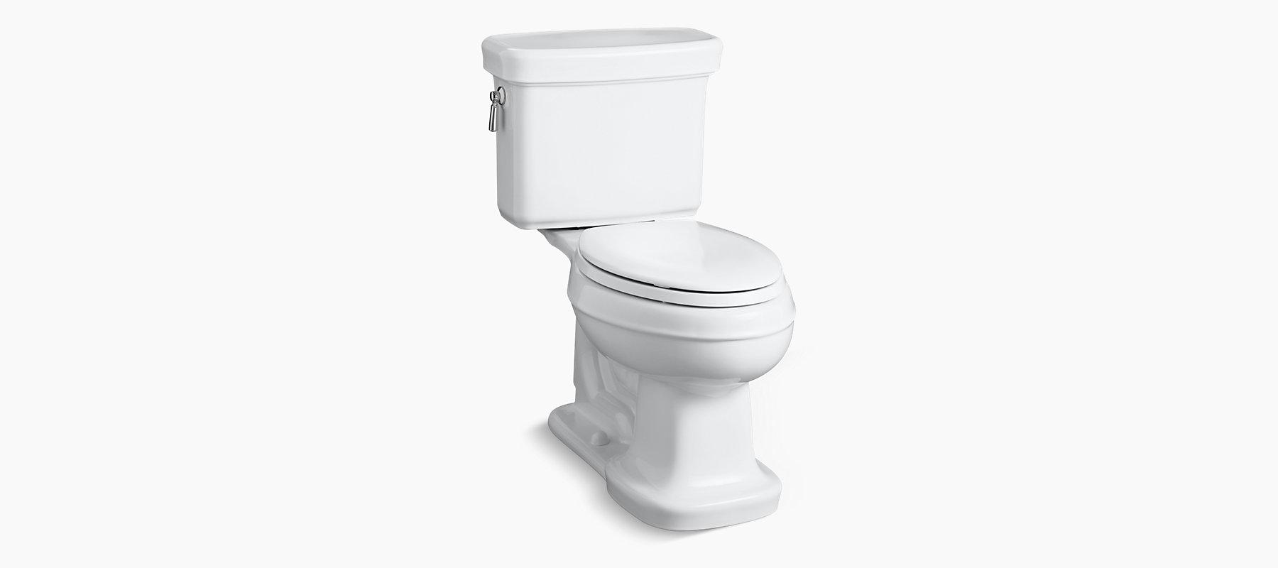 KOHLER|K-3827|Bancroft Comfort Height Elongated 1.28-GPF Toilet | KOHLER
