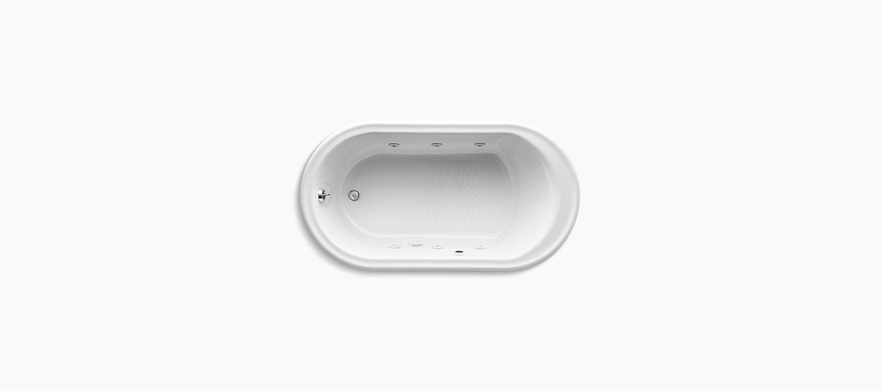 Iron Works 5.5-Foot Whirlpool Bath | K-712-H2 | KOHLER