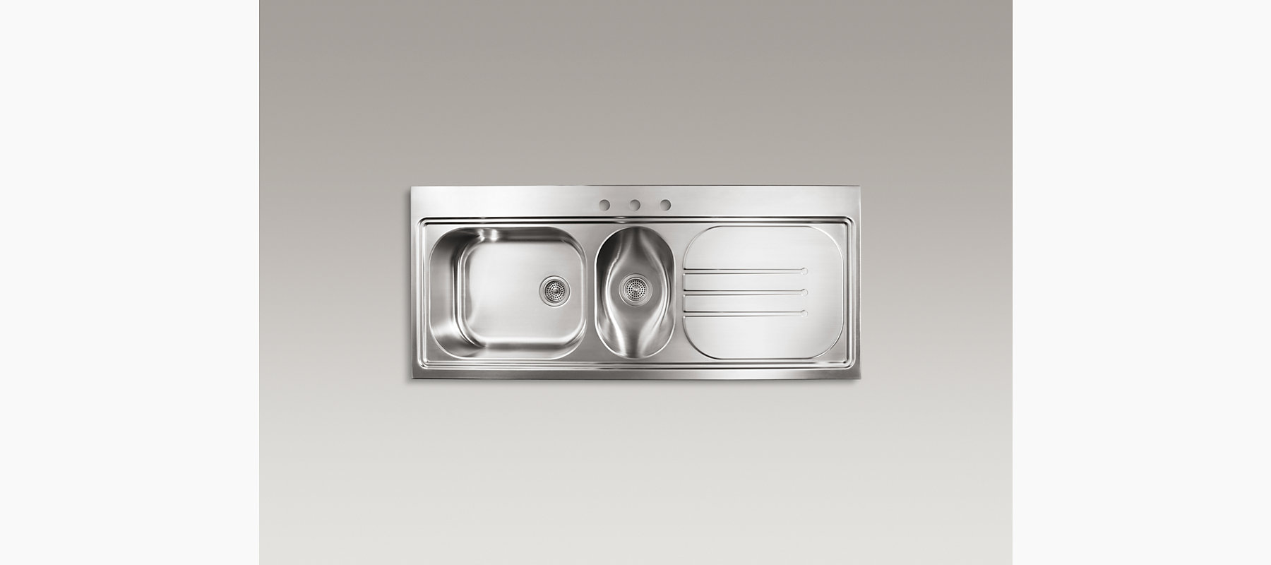 K 3326r 3 Pro Taskcenter Double Bowl Sink With Right