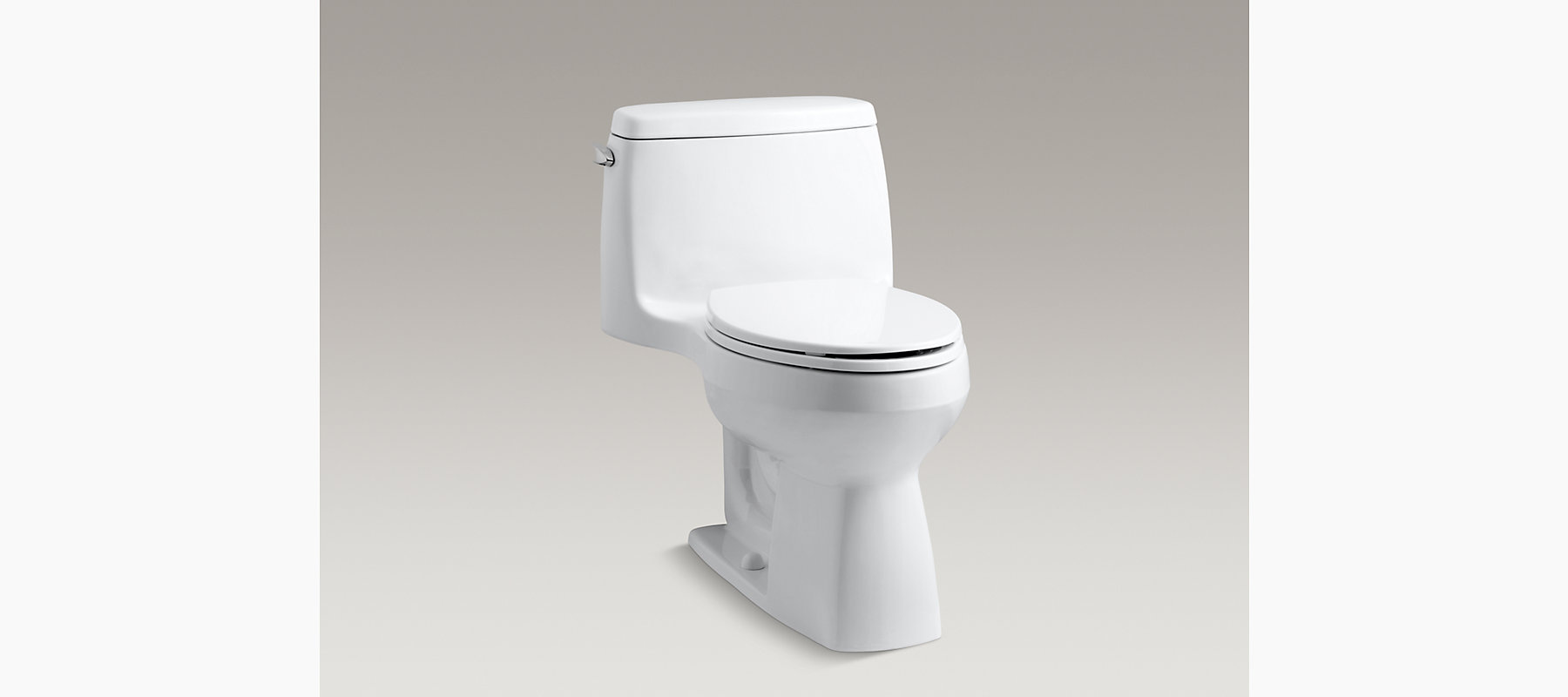 KOHLER|K-3323|Santa Rosa Compact Elongated One-Piece 1.6-GPF Toilet ...