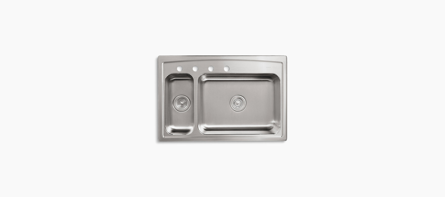 Toccata Top-Mount Kitchen Sink with Four Faucet Holes | K-3347L-4 ...