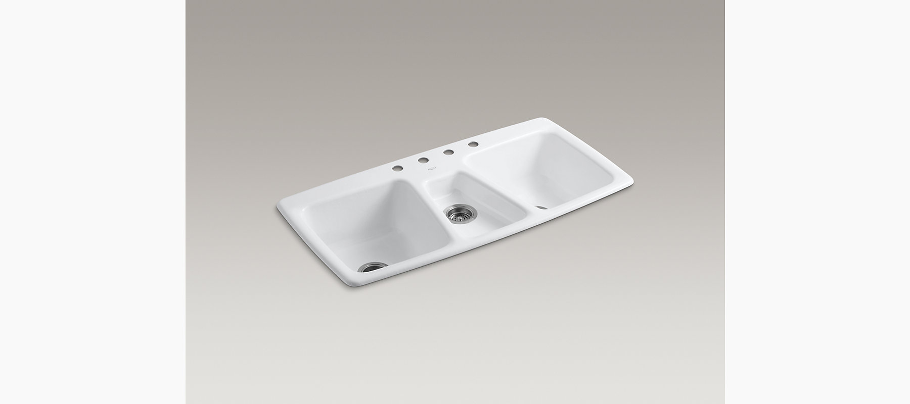 Trieste Top-Mount Kitchen Sink with Four Faucet Holes | K-5914-4 ...