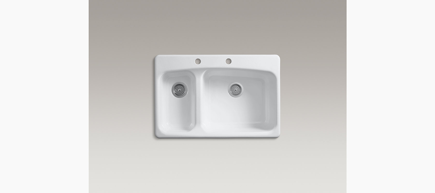 Lakefield Top Mount Kitchen Sink With Two Faucet Holes K