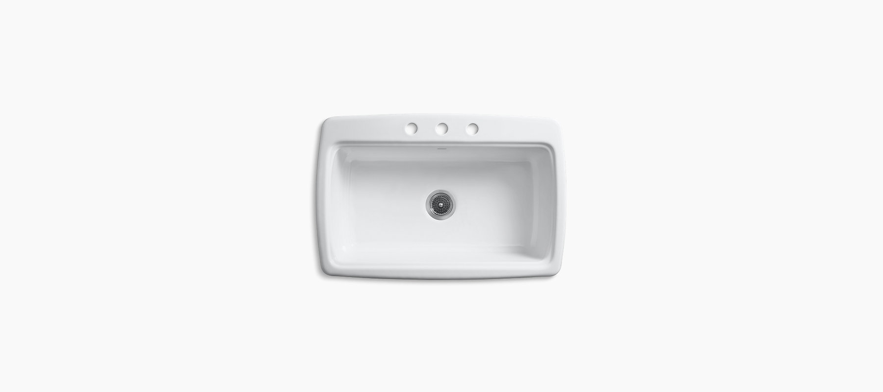 Cape Dory Top-Mount Kitchen Sink with Three Faucet Holes | K-5863-3 ...