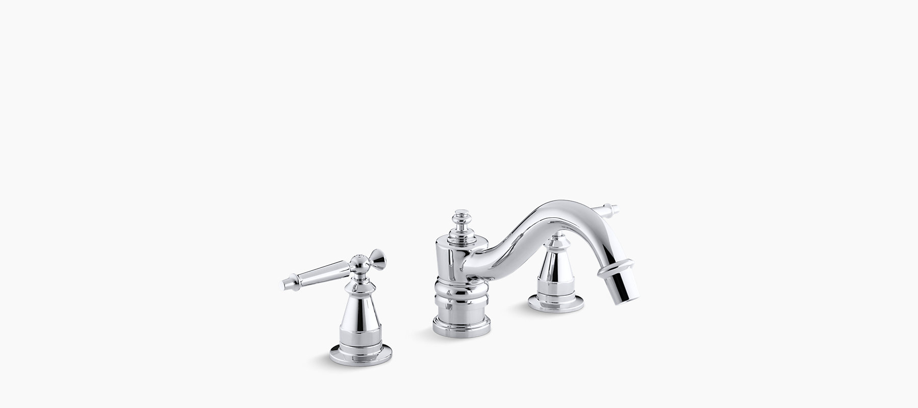 Deck Mount High Flow Bath Faucet Trim