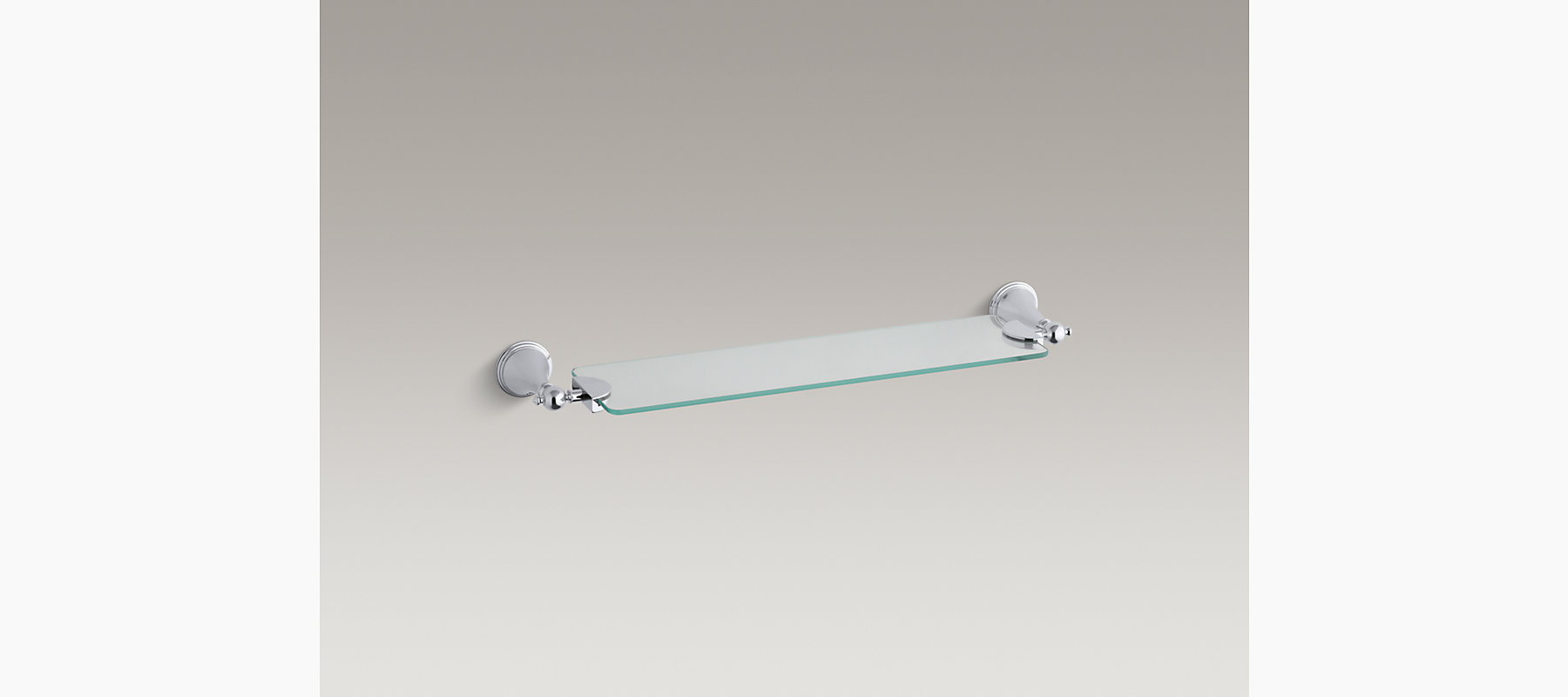 Finial Traditional 18-Inch Glass Shelf | K-365 | KOHLER