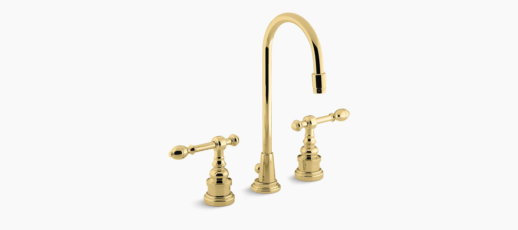 IV Georges Brass Widespread Sink Faucet | K-6813-4 | KOHLER