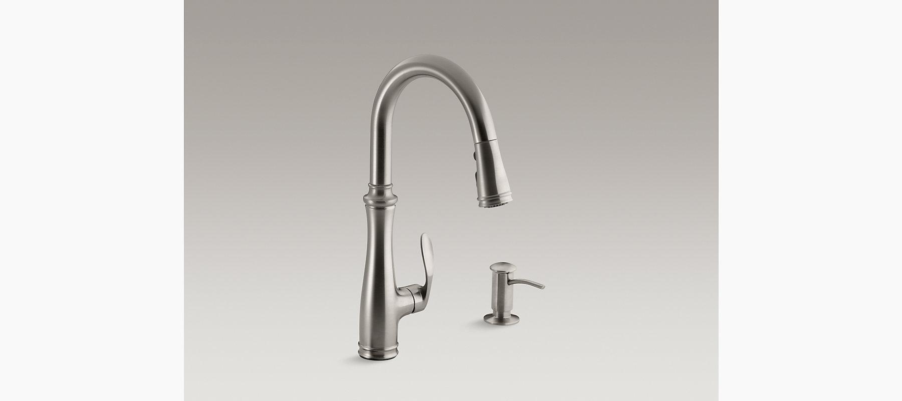 Bellera Pull-Down Kitchen Faucet w/ Dispenser | K-R560 | KOHLER