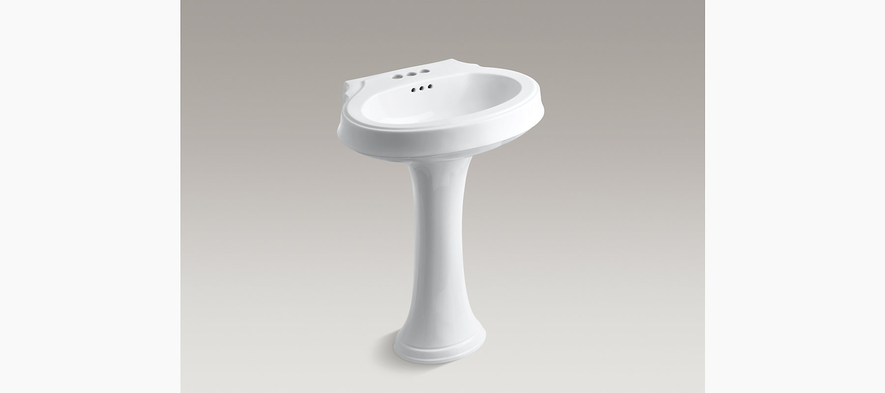 Leighton Pedestal Sink With 4-Inch Centers