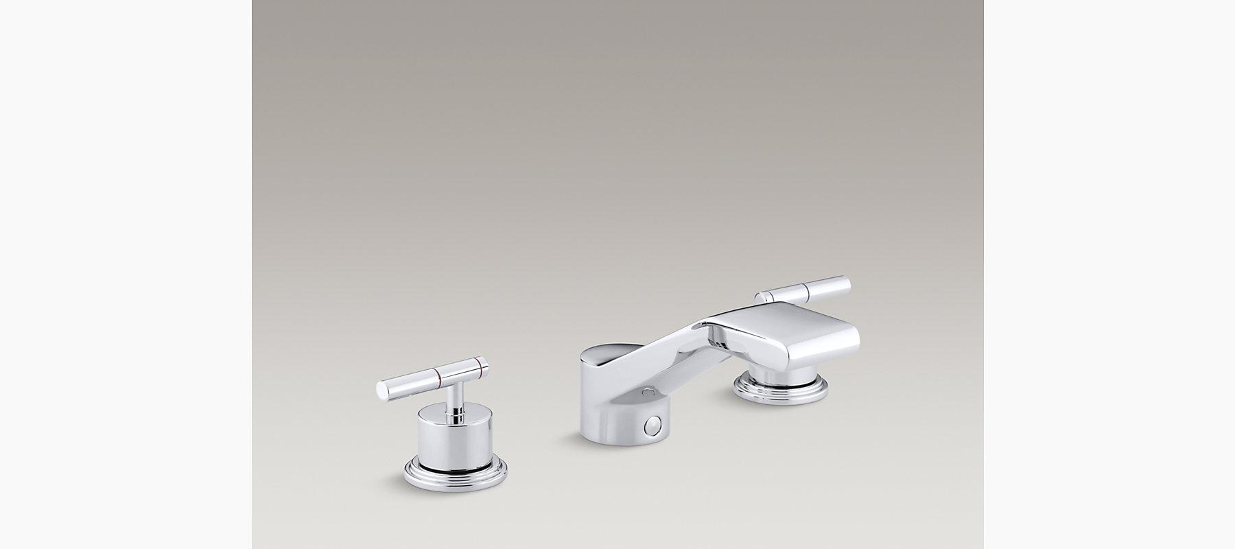 Taboret Deck-Mount High-Flow Bath Faucet Trim | K-T8238-4 | KOHLER