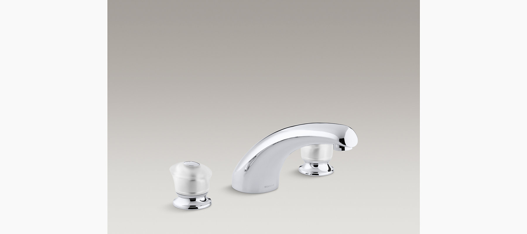 faucets handle mount two trim tub k bath amazon only brushed dp coralais deck faucet com kohler g chrome