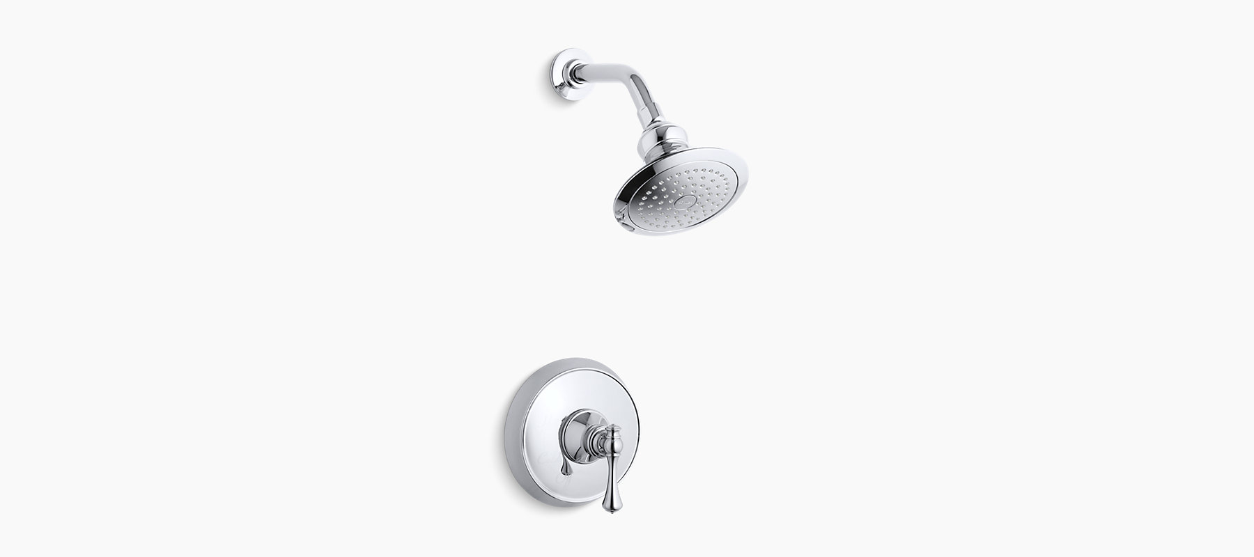 K Ts16114 4a Revival Rite Temp Shower Valve Trim With Traditional Lever Handle And 2 5 Gpm Showerhead Kohler Canada