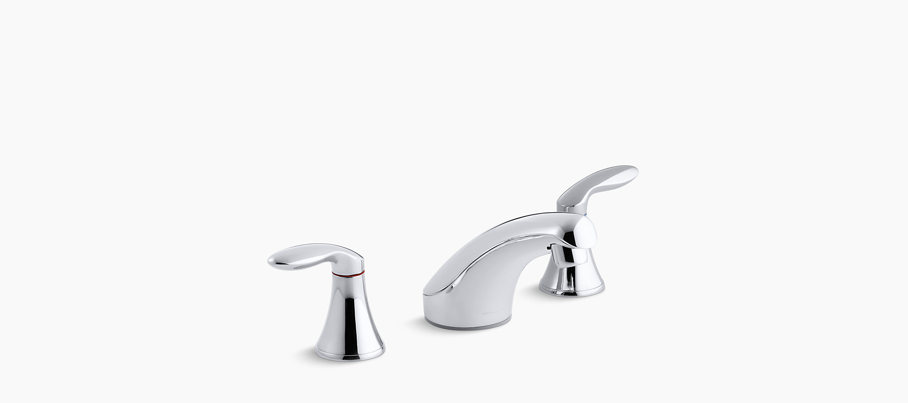 Coralais widespread commercial bathroom sink faucet with lever ...