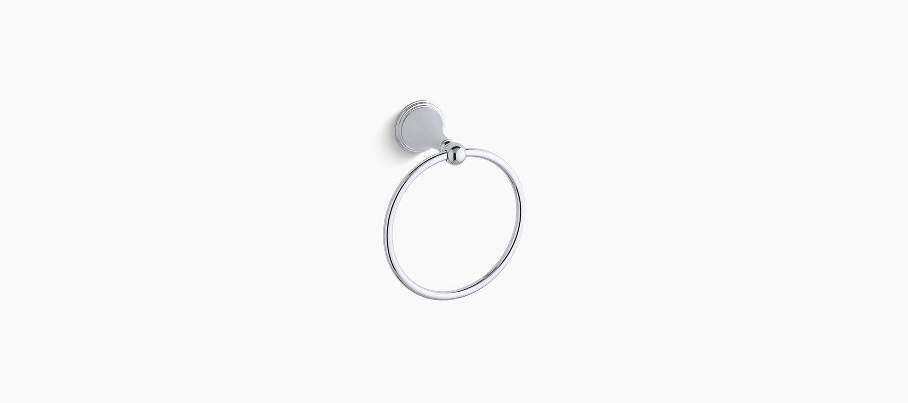 K 363 Finial Traditional Towel Ring Kohler