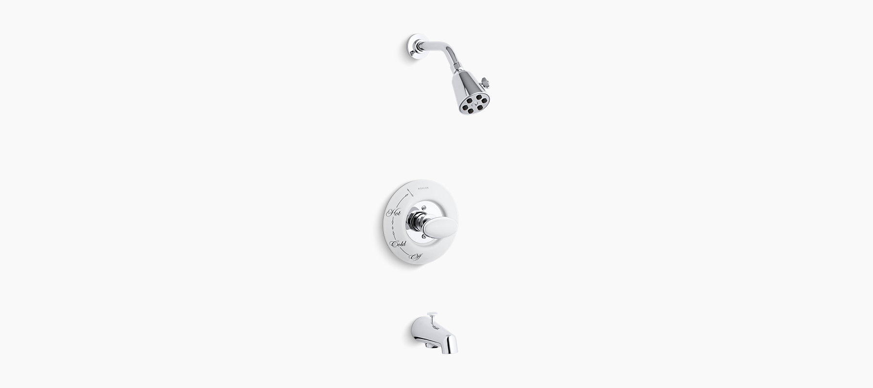 K-T130-9B | Antique Rite-Temp Bath and Shower Faucet Trim | KOHLER