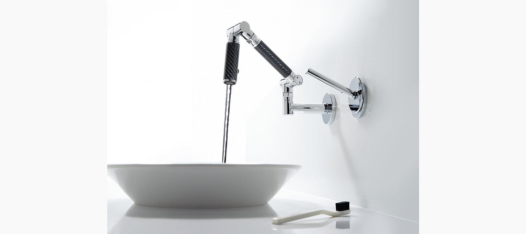 Karbon Wall-Mount Bathroom Sink Faucet   K-6269-C12   KOHLER