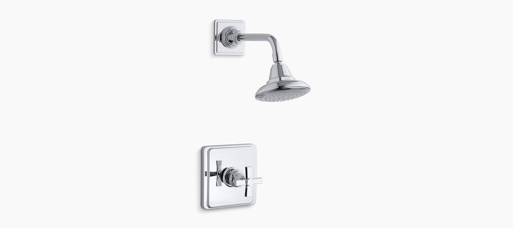 Pinstripe Bath and Shower Faucet Trim with Pure Design | K-T13134-3A ...