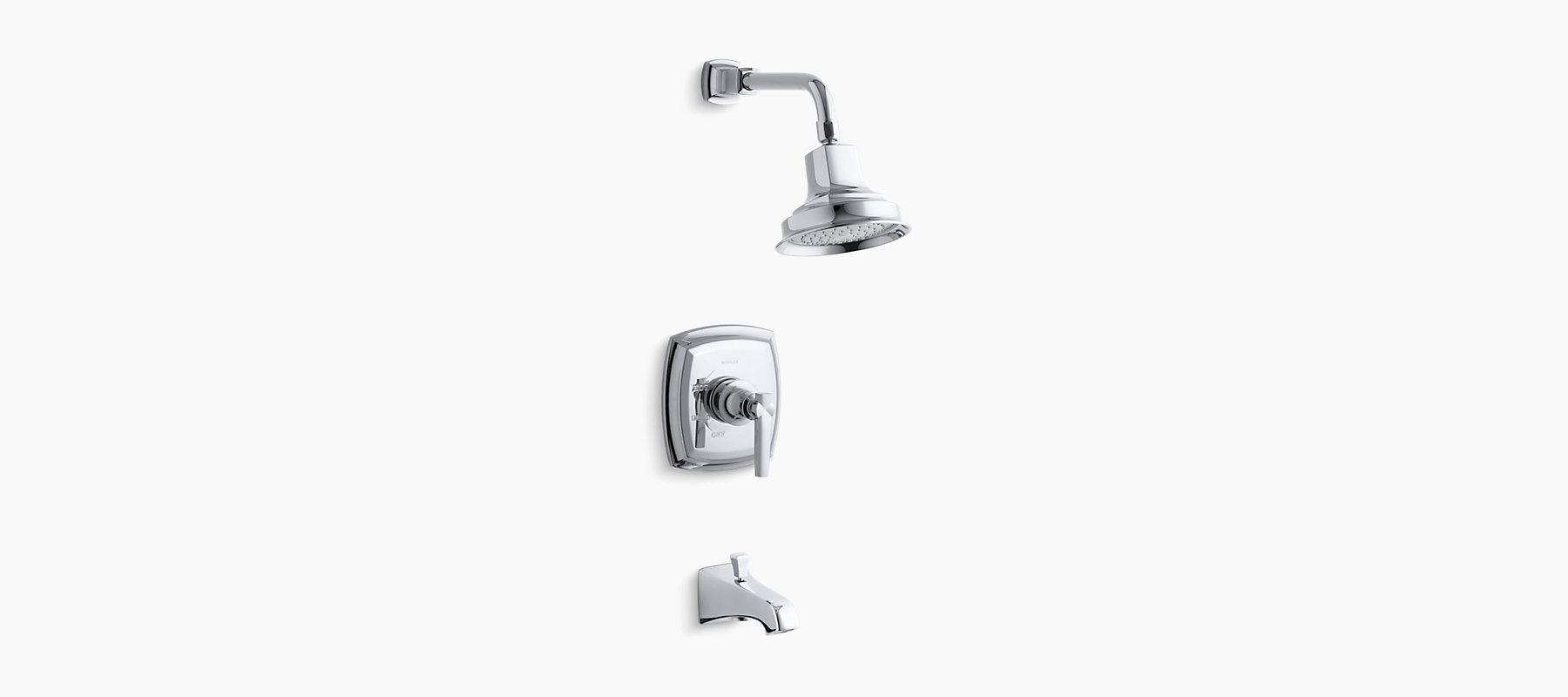 K-T16225-4 | Margaux Rite-Temp Shower and Bath Trim with Lever ...